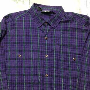 Men's Patagonia Plaid Button Down Shirt Size Large
